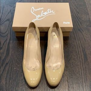 CHRISTIAN LOUBOUTIN SMPLE PUMP 70 PATENT CALF 41.5